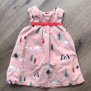 Baby Boden corduroy dress size 6-12 months